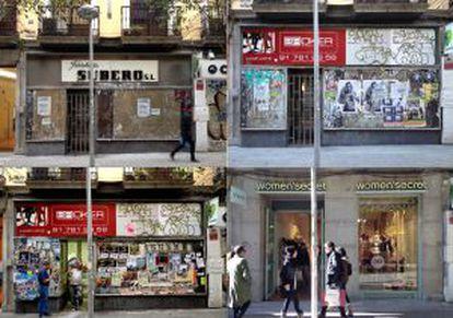 Entre el 1 de marzo y el 23 de diciembre de 2013, Jacobo Armero hizo decenas de fotografías de la fachada de lo que fue la Ferretería Subero en la calle de Fuencarral, muy cerca de la Gran Vía, hasta que se convirtió en una tienda de ropa interior femenina. Estas son algunas de esas imágenes.