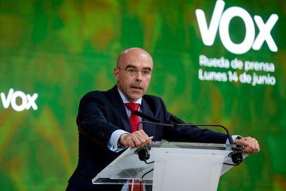 El eurodiputado de VOX, Jorge Buxadé, el 14 de junio de 2021, en Madrid, (España).