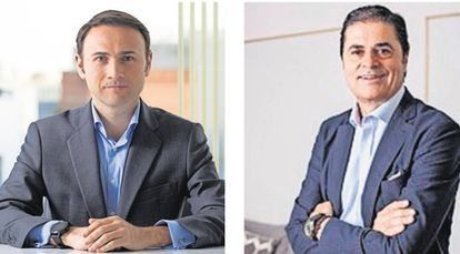 A la izquierda, Carlos Santana, managing director de EQT; a la derecha, David Jiménez, consejero delegado de Igenomix.
