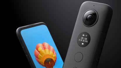 La cámara de acción Insta360 One X en color negro.