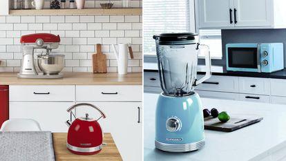 Seleccionamos unos productos con diseño exclusivo retro de menaje de cocina, como teteras, batidoras o tostadoras, disponibles en Amazon.