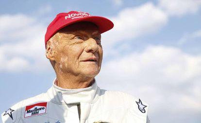 Niki Lauda, en junio de 2018 durante la carrera de leyendas de Spielberg.