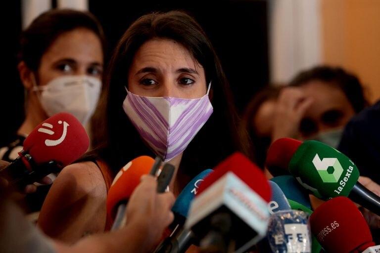 La ministra de Igualdad, Irene Montero en Madrid.