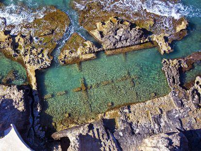 Antigua piscifactoria romana en los Banys de la Reina, en Calp.