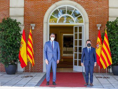 Sánchez y Aragonés reactivaron el diálogo sobre Cataluña una semana después de los indultos.