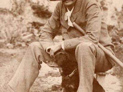 Benito Pérez Galdós, en 1894, en la última visita que realizó a Gran Canaria, en la finca familiar de Los Lirios (monte Lentiscal).