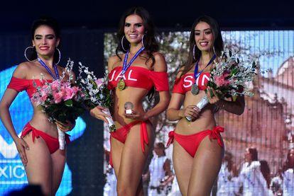 Concursantes de Miss México posan en bikini en Chihuahua el pasado 30 de junio.