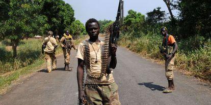 Rebeldes de la coalición Seleka el pasado 10 de enero.