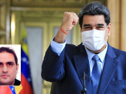 El presidente venezolano, Nicolás Maduro. En un recuadro, el empresario Saab.