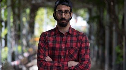 Adam Choukrallah posa en Alcobendas , Madrid.