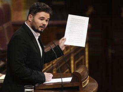 """ERC advierte a Sánchez  """"Sin mesa de diálogo, no hay legislatura"""""""