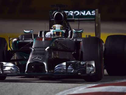 Lewis Hamilton en Singapur.