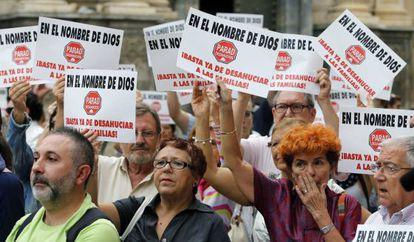 Protesta en Cartagena contra los desahucios.