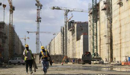 Vista de las obras del Canal de Panamá el pasado 21 de febrero.