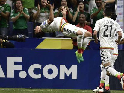 El festejo de Sepúlveda tras su gol