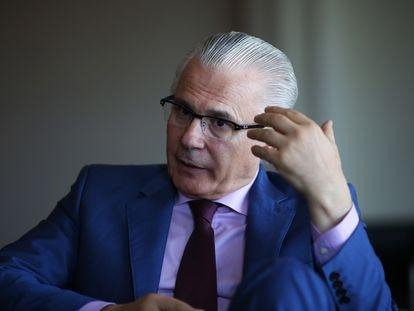 El exmagistrado de la Audiencia Nacional Baltasar Garzón, en 2016, durante una entrevista con EL PAÍS.