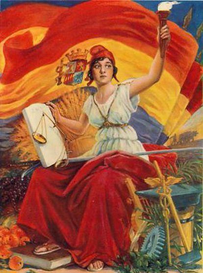 Cartel de la Segunda República Española.