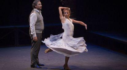 José Valencia y Rosario Toledo en el estreno de 'Aleluya erótica'.