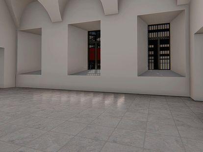 Recreación de las futuras salas del Reina Sofía.