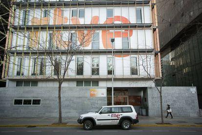 El edificio de Radio Televisión Española en Barcelona, en una foto de archivo.