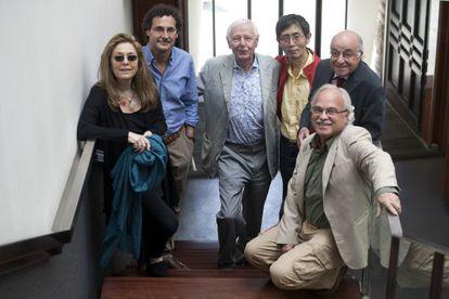 Los poetas Jorie Graham, Fabio Morábito, Hans Magnus Enzensberger, Bei Dao, Carles Miralles y Francesc Parcerisas