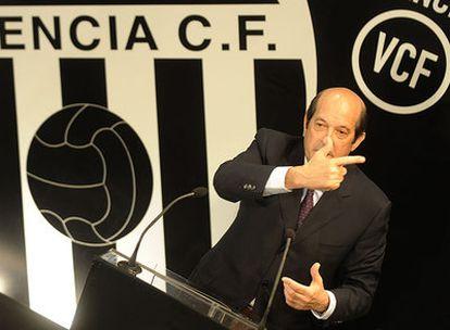Manuel Llorente, nombrado ayer presidente del Valencia.