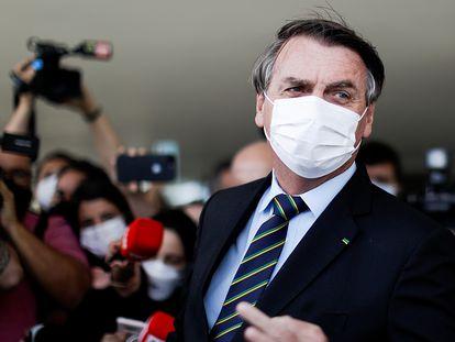 El presidente de Brasil, Jair Bolsonaro, el 25 de marzo pasado en Brasilia.