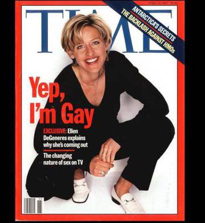 Ellen DeGeneres en la portada de la revista Time, en 1997.