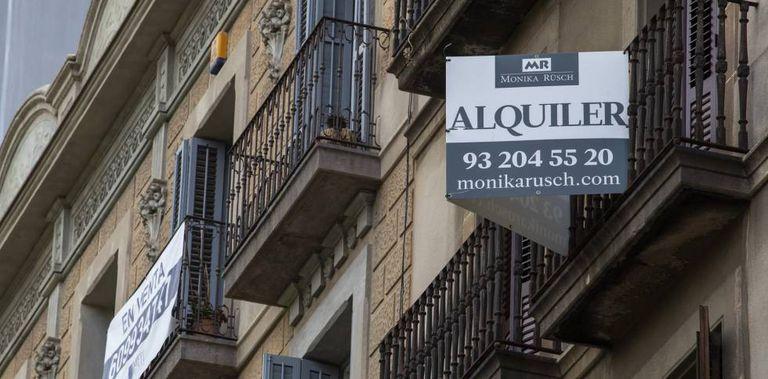Un piso en alquiler en el barrio de Gràcia de Barcelona, el mes pasado.