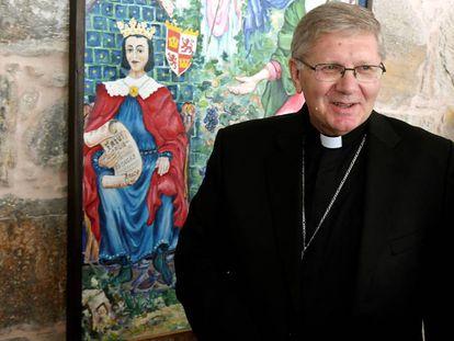 Foto: Juan Antonio Menéndez, obispo de Astorga, en septiembre.
