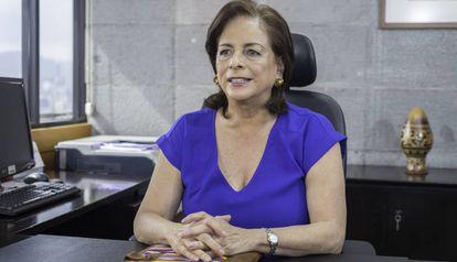La ministra Monserrat Creamer, en su despacho.