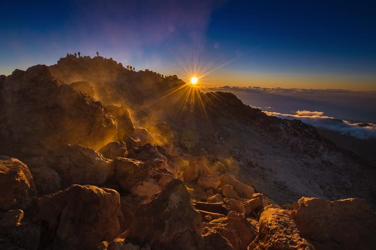 El Parque Nacional del Teide, en la isla de Tenerife.