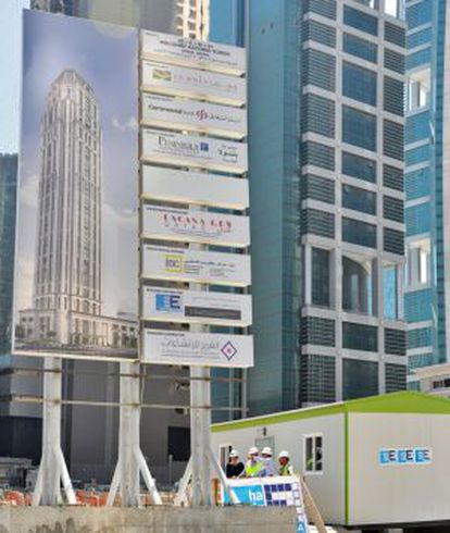 Obras del hotel Waldorf Astoria, de cinco estrellas, en Doha.
