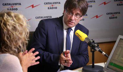 Puigdemont en Catalunya Ràdio.