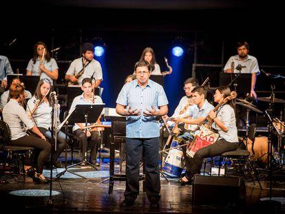 Integrantes de la orquesta Cateura.