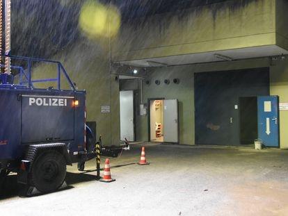 La entrada del búnker de Traben-Trarbarch en una foto de la policía alemana.