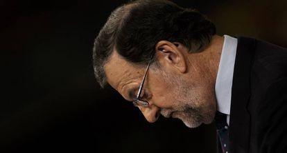 Mariano Rajoy durante la segunda votación de Investidura de este viernes.