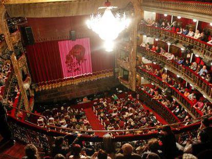 Una representación en el Teatro Español.
