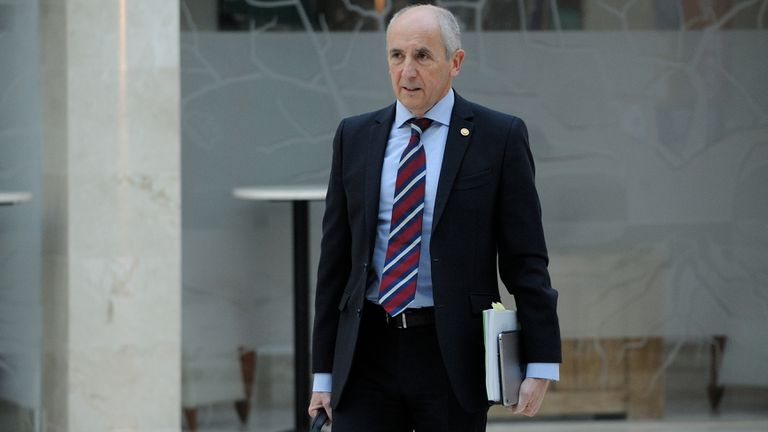 Josu Erkoreka, portavoz del Gobierno Vasco, el pasado 10 de marzo en Vitoria.