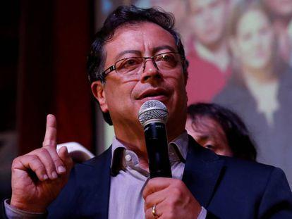 El candidato a la presidencia de Colombia Gustavo Petro, el pasado mayo en un acto en Bogotá.