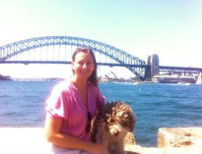 Paula Llull en Australia.