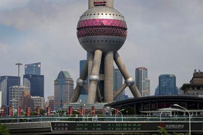 Vista del distrito financiero de Pudong, en Shanghái (China).