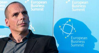 Varoufakis, en un acto el 7 de mayo.