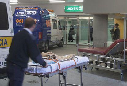 El servicio de urgencias del Hospital de Ourense.