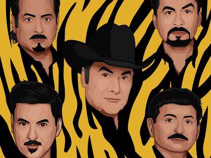 Los Tigres del Norte, en una imagen promocional.