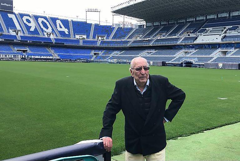 Andrés Perales, hace unos días en La Rosaleda.