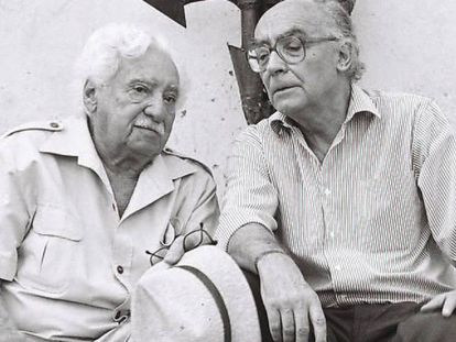 Jorge Amado y José Saramago.