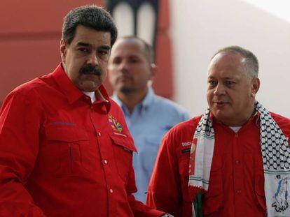 Nicolás Maduro y Diosdado Cabello, a finales de julio en Caracas.