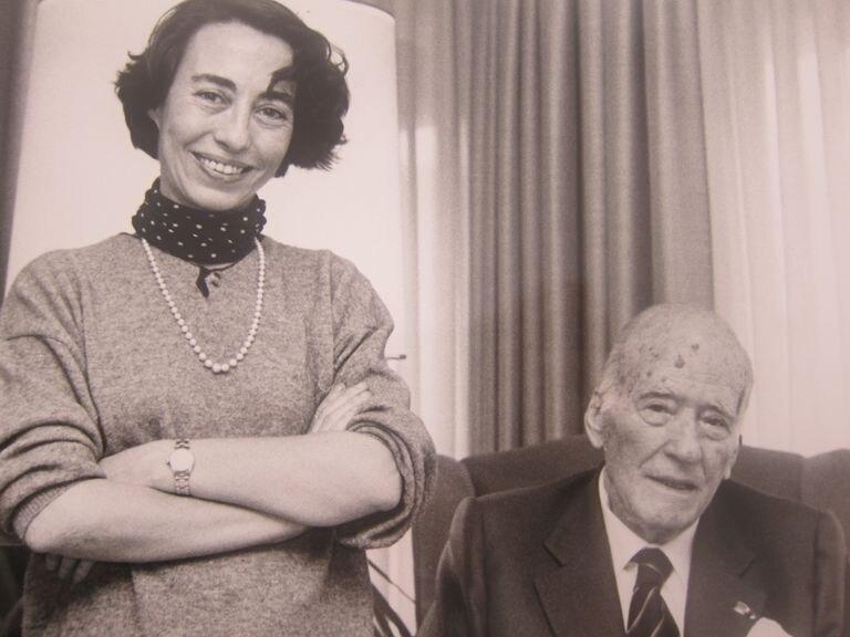 Margarita Rivière, junto al presidente de la Generalitat Josep Tarradellas