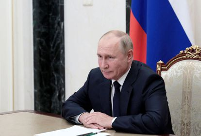Putin asiste de forma telemática a una reunión del Consejo de Seguridad desde Moscú el pasado 27 de agosto.